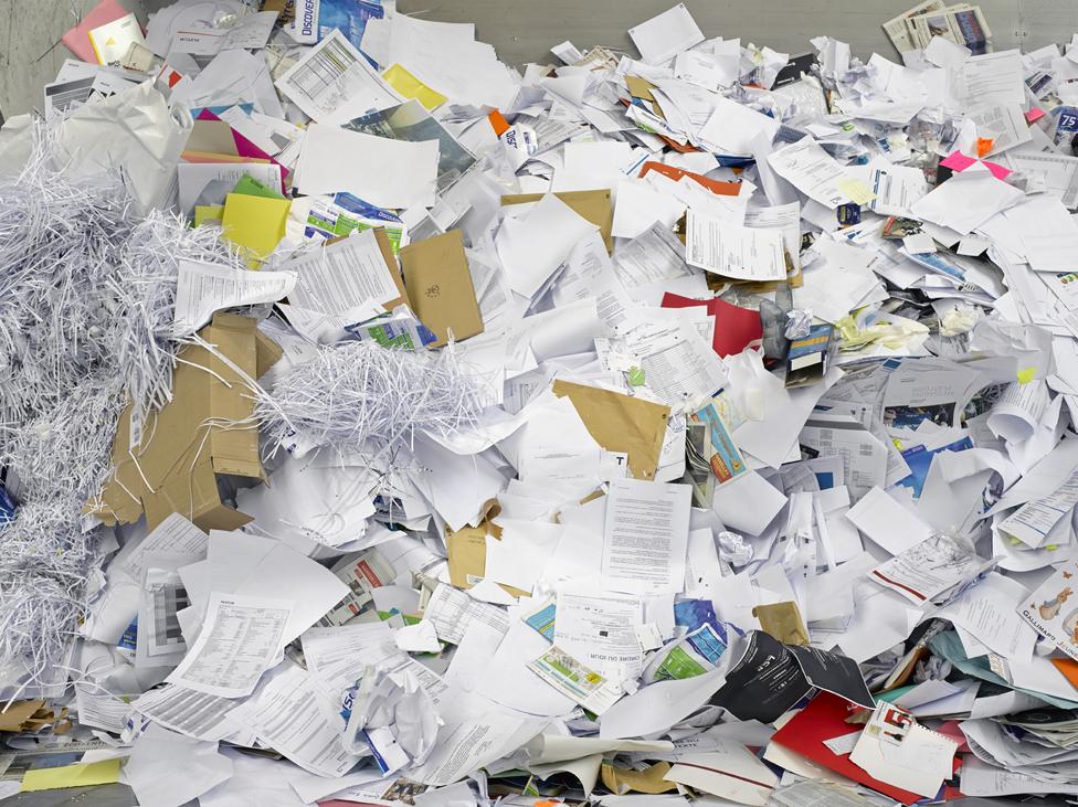 Cèdre, société de tri et de recyclage de papier, Argenteuil, décembre 2014