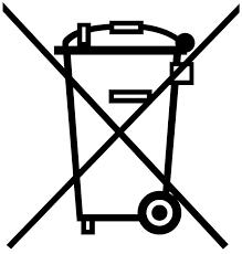 Logo poubelle barrée
