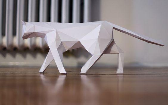 chat en papier