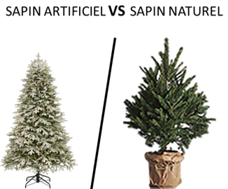 Sapin artificiel versus naturel
