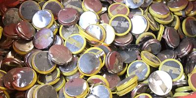 Piles bouton recyclage en entreprise