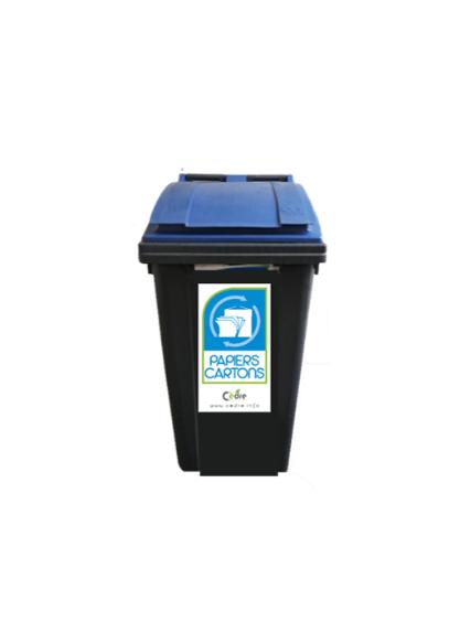 Bacs 340L poubelle bac recyclage de déchets
