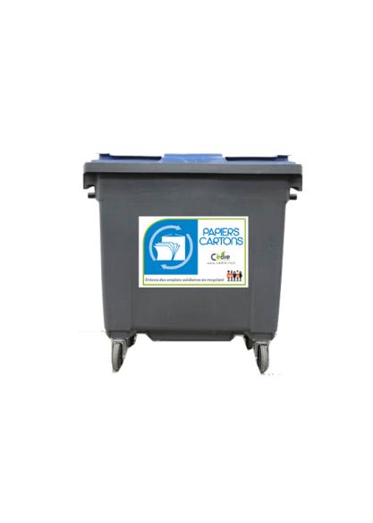 Bacs 700L poubelle bac déchets recyclables au bureau