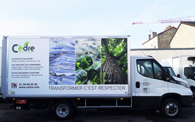 Camion roulant au bio GNV recyclage