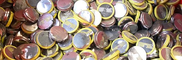 Piles bouton en entreprises à recycler
