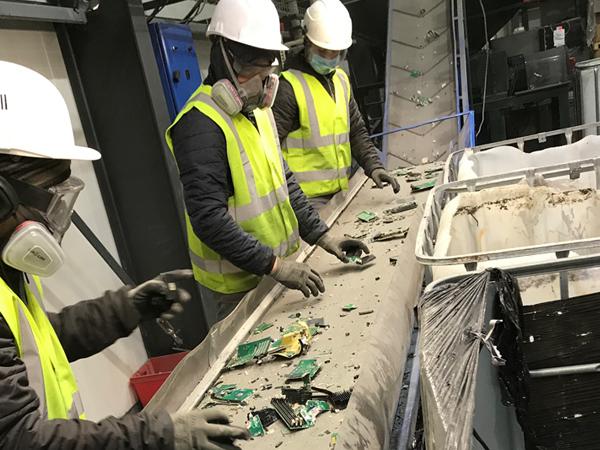 Broyage et recyclage des matières D3E