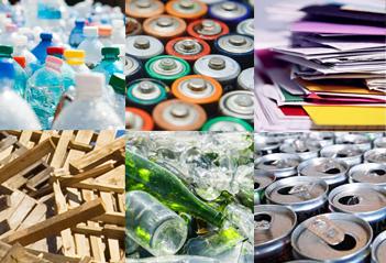 Déchets de bureau collectés et recyclés