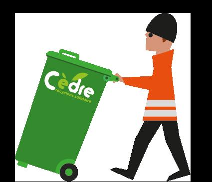 Illustration recyclage au bureau