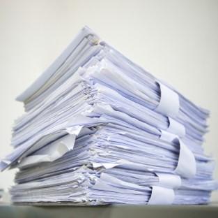 Recyclage des papiers au bureau en entreprise