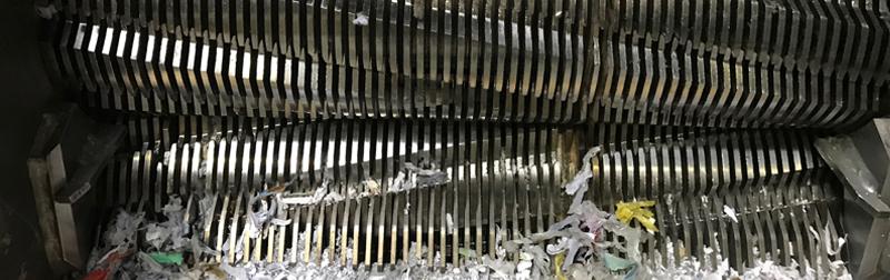 Broyeur destruction papiers confidentiels