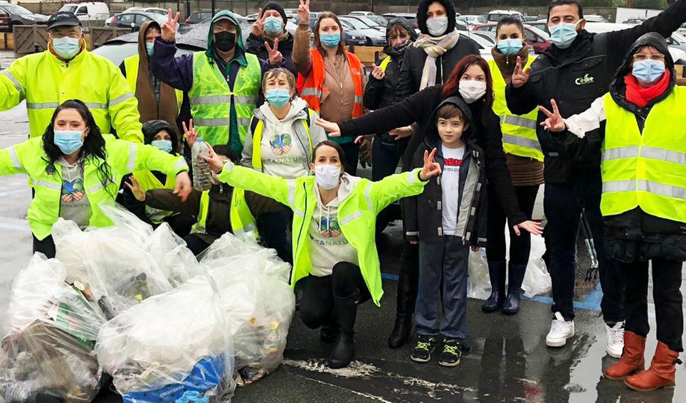 Collecte de déchets sur la voie publique